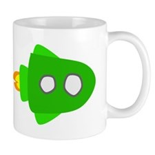 Green Rocket Ship Mugs