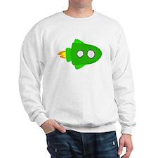 Green Rocket Ship Sweatshirt