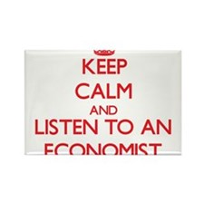 Keep Calm and Listen to an Economist Magnets