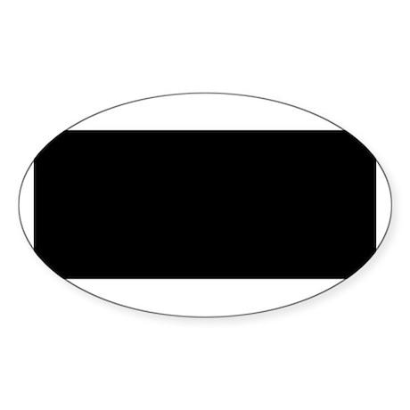 Childhood Cancer Oval Sticker