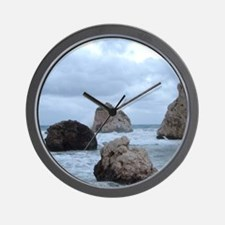 Aphrodite's Rocks Wall Clock