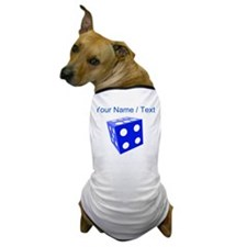 Custom Blue Dice Dog T-Shirt
