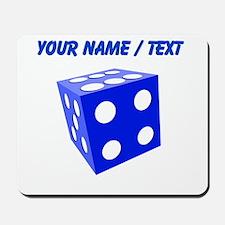 Custom Blue Dice Mousepad