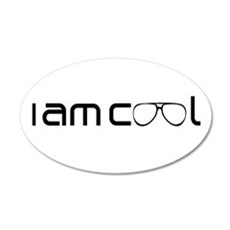I Am Cool Sunglasses Shades 35x21 Oval Wall Decal