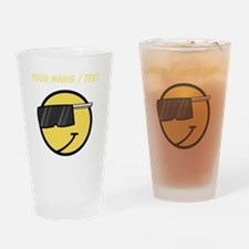 Custom Cool Smiley Face Drinking Glass