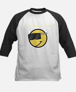 Custom Cool Smiley Face Baseball Jersey