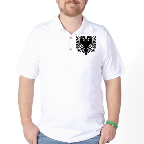 Albanian Eagle Emblem Golf Shirt