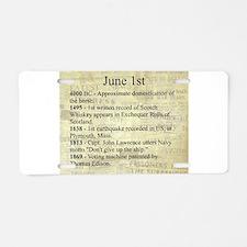 June 1st Aluminum License Plate