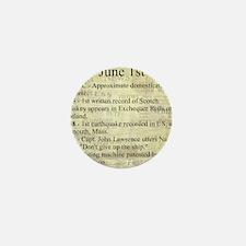 June 1st Mini Button
