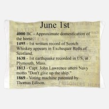 June 1st Pillow Case