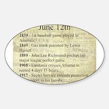 June 12th Sticker (Oval)