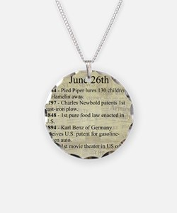 June 26th Necklace