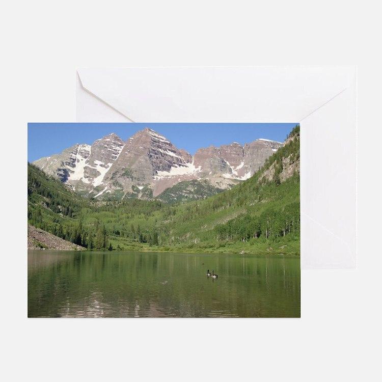 Maroon Bells, Aspen, Colorado Greeting Card