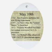 May 10th Ornament (Oval)