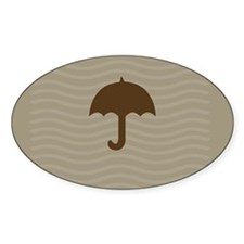 Chocolate Umbrella Waves Decal