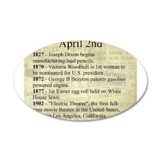 April 2nd 20x12 Oval Wall Decal