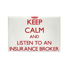 Keep Calm and Listen to an Insurance Broker Magnet