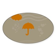 Orange Umbrella Beige Decal