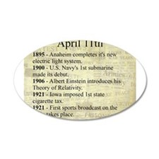 April 11th Wall Decal
