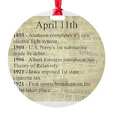 April 11th Ornament