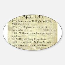 April 13th Sticker (Oval)