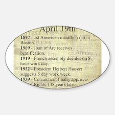 April 19th Sticker (Oval)