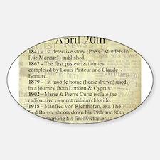 April 20th Sticker (Oval)
