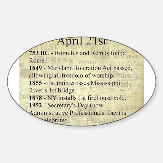 April 21st Sticker (Oval)