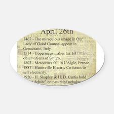 April 26th Oval Car Magnet