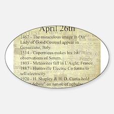 April 26th Sticker (Oval)