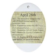 April 26th Ornament (Oval)