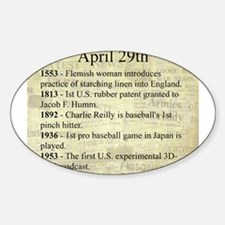April 29th Sticker (Oval)