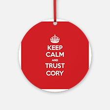 Trust Cory Ornament (Round)