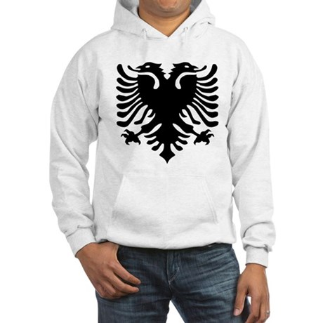 Albanian Eagle Emblem Hooded Sweatshirt