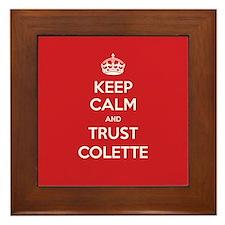 Trust Colette Framed Tile