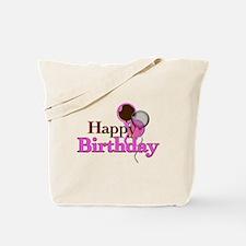Happy Birthday Brown Tote Bag