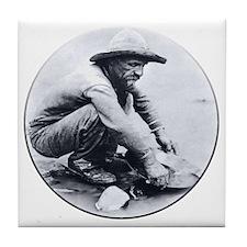 Prospector Round Tile Coaster