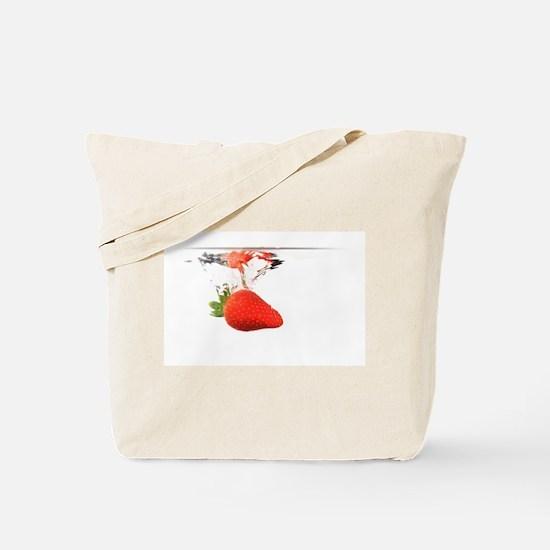 Falling strawberry Tote Bag