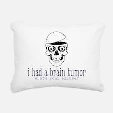 Brain Tumor Excuse Rectangular Canvas Pillow