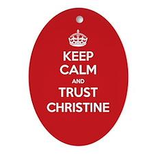Trust Christine Ornament (Oval)