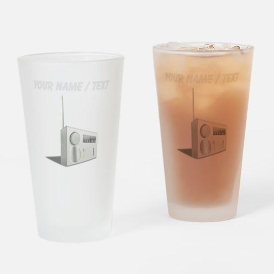 Custom Radio Drinking Glass