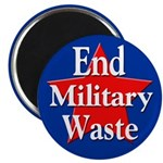 End Military Waste Political Magnet