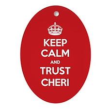 Trust Cheri Ornament (Oval)