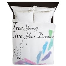 Free yourself, Live your dreams Queen Duvet
