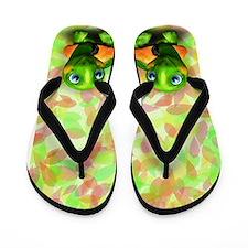 Green Turtle Baby 3D Flip Flops