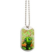 Green Turtle Baby 3D Dog Tags