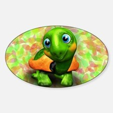Green Turtle Baby 3D Decal