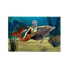 Mermaid and Dolphin Magnets