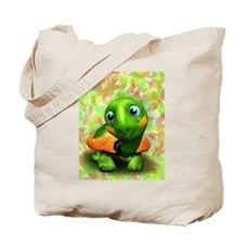 Green Turtle Baby 3D Tote Bag