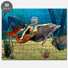 Mermaid and Dolphin Puzzle